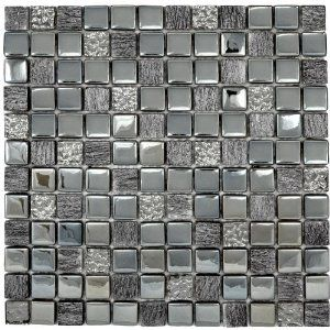 Stunning Contemporary Shimmering Silver Grey Tones Gl And Ceramic Mosaic Tiles Mygift