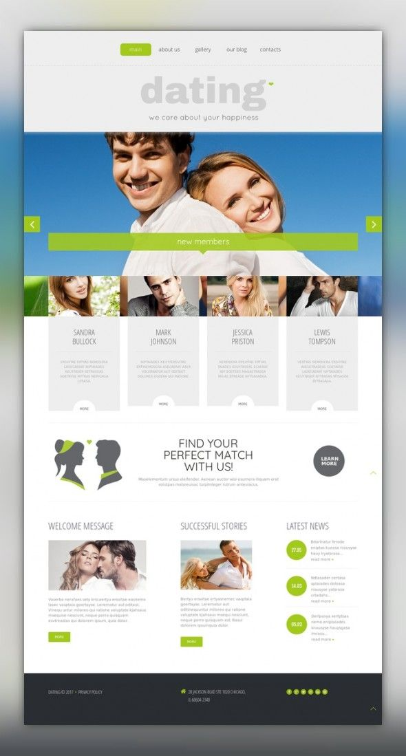 template dating wordpress