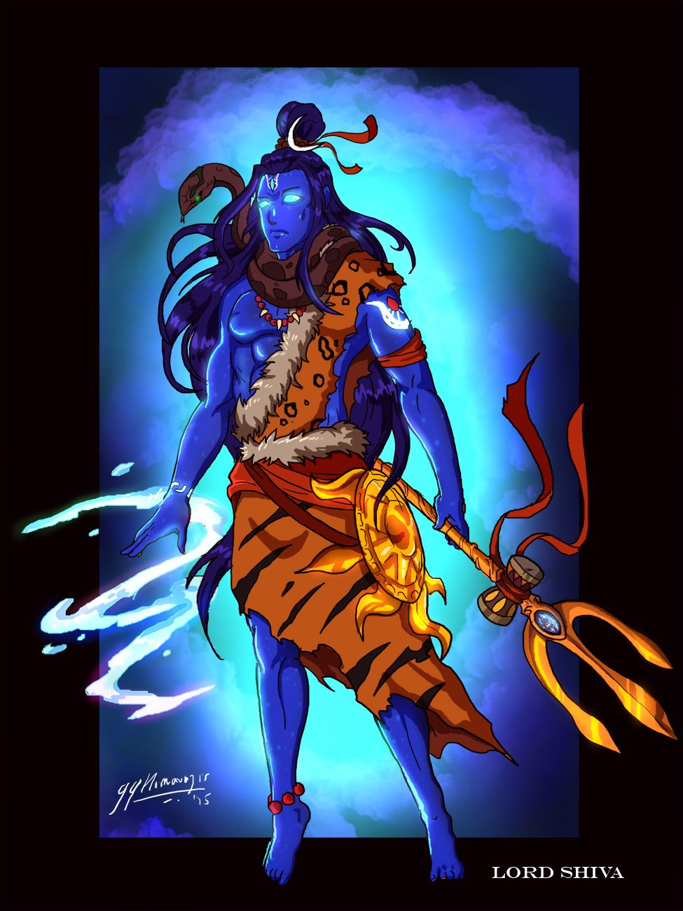 Lord Shiva Full body Concept art by JazylH.deviantart