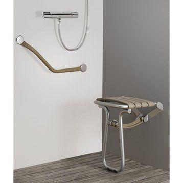 Siège de douche à fixer, aluminium | Salle de bain, Siège de ...