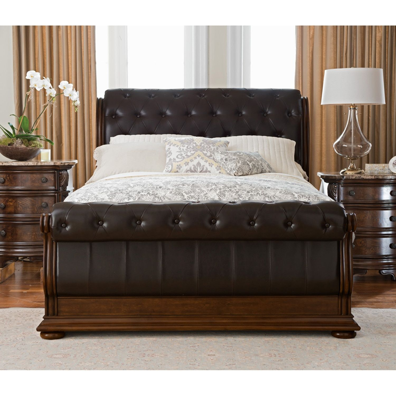 lou p king stoney new number house universal louie bedroom sets products item s creek sleigh b furniture bed