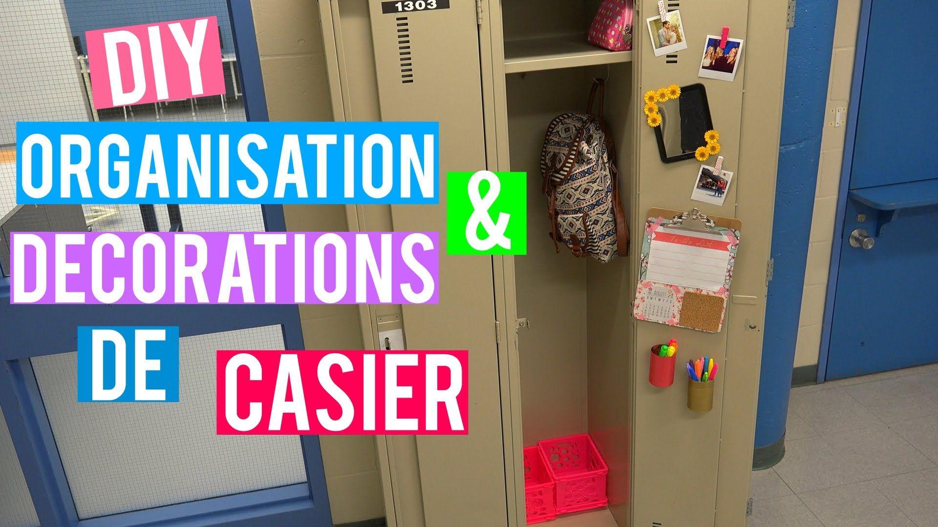 Décoration Pour Casier D École diy organisation + décorations de casier ! | back 2 school