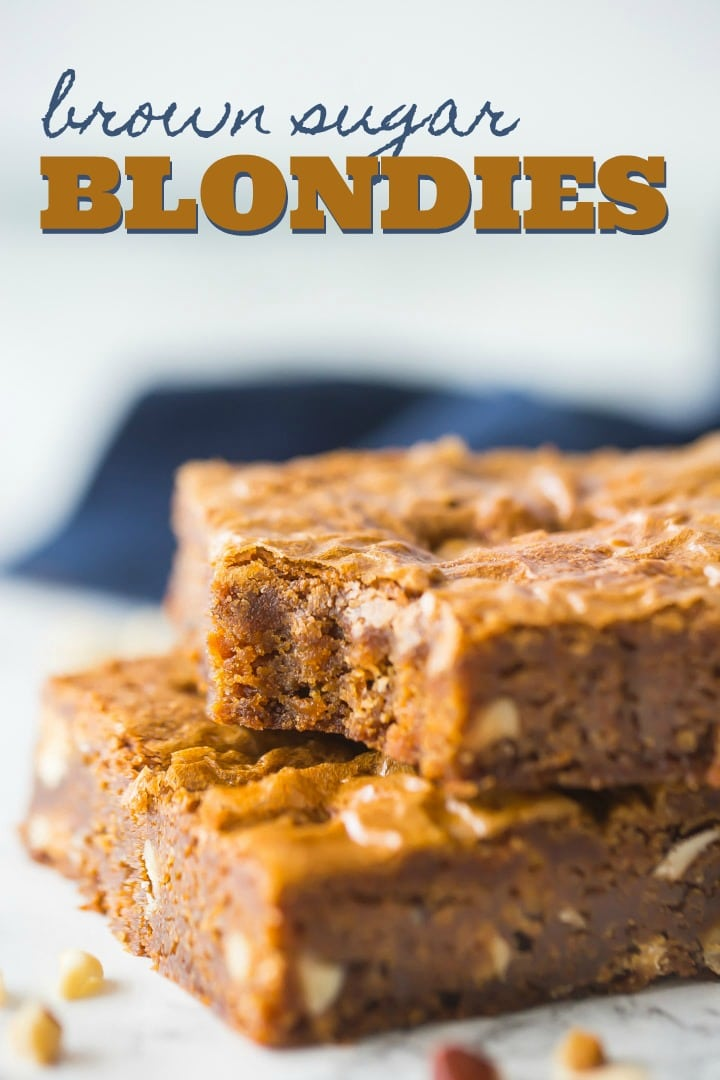 Blondie This is our favorite blondie recipe- so fudgy and gooey, with lots of carmel-y brown sugar flavor. We customize it with all sorts of fun add-ins!