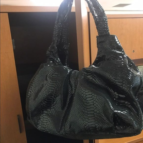 49ef362c59 ⚡️I day HP Perlina Genuine Leather Hobo bag Luxurious Perlina genuine black  patent leather hobo