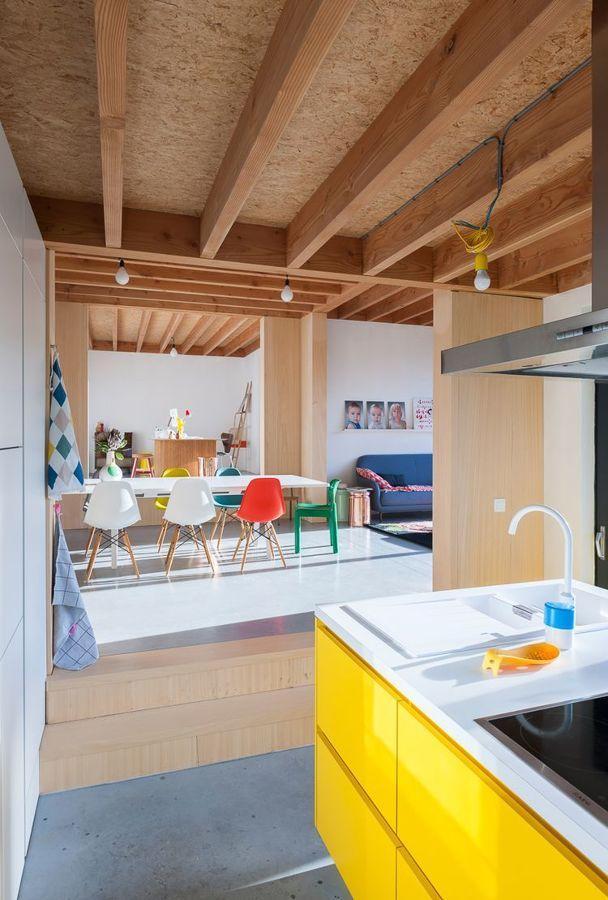 Muebles amarillos de cocina #kitchen #yellow