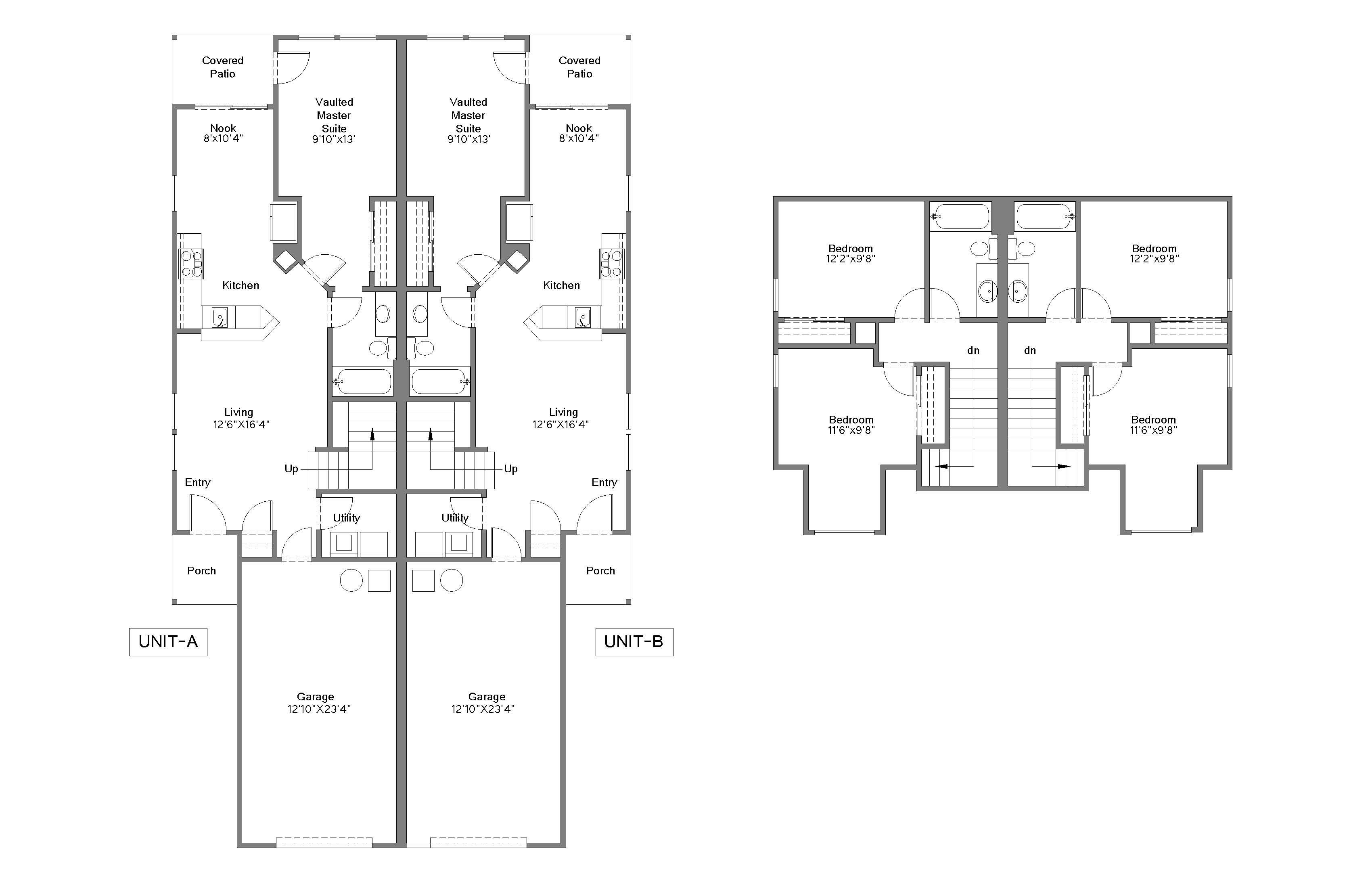 Architectural Floor Plan, Floor Plan With Autocad Drawings ...