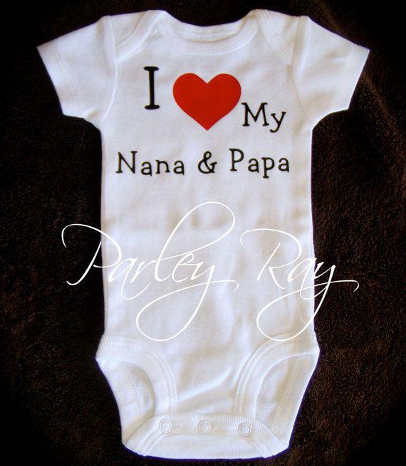 i love heart my nana BABY VEST BOY//GIRL BODYSUIT