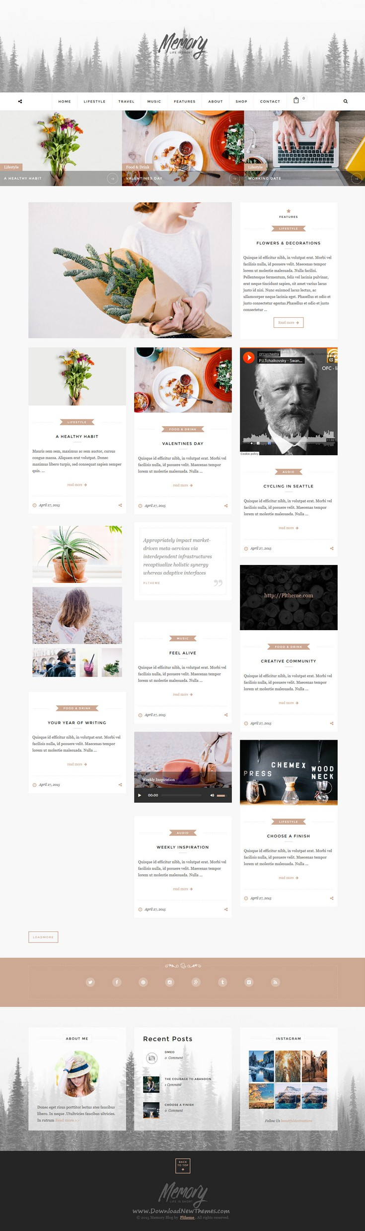 Memory is and elegant, smoothly and responsive Bootstrap HTML ...