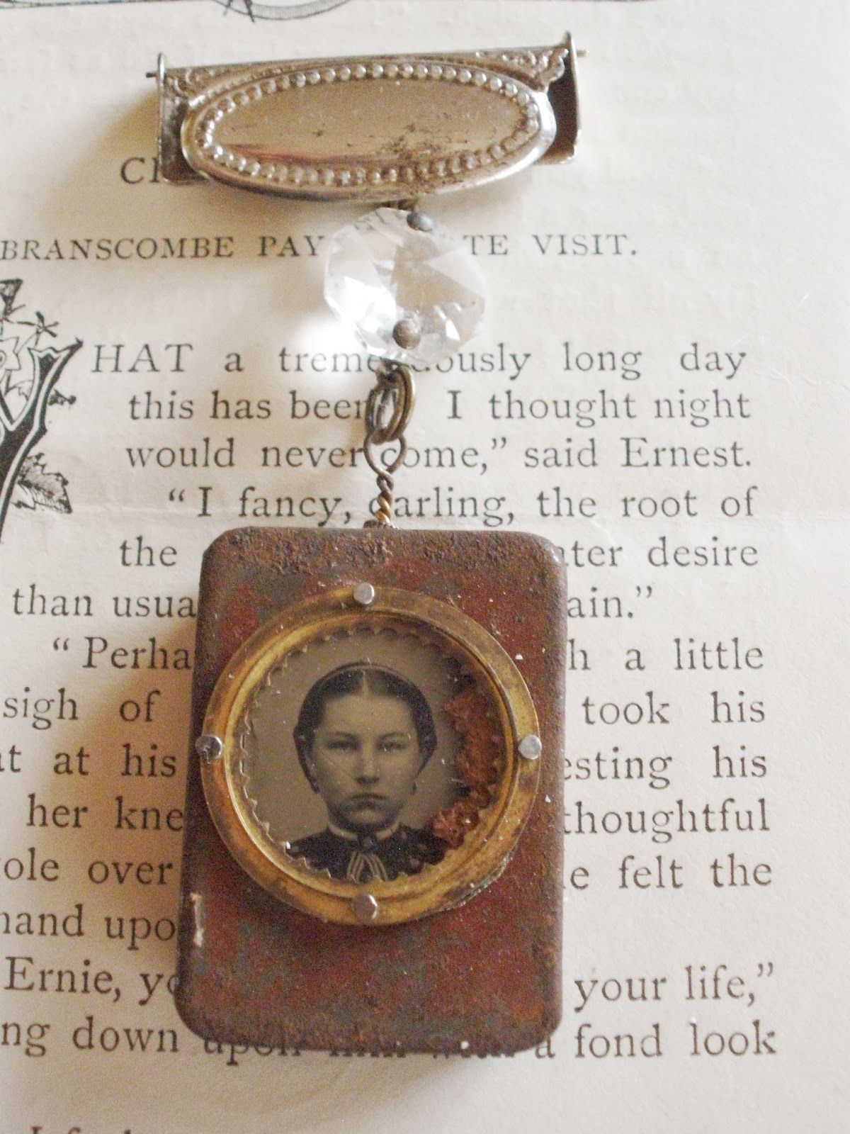 A mark in time repurposed jewelry mixed media jewelry