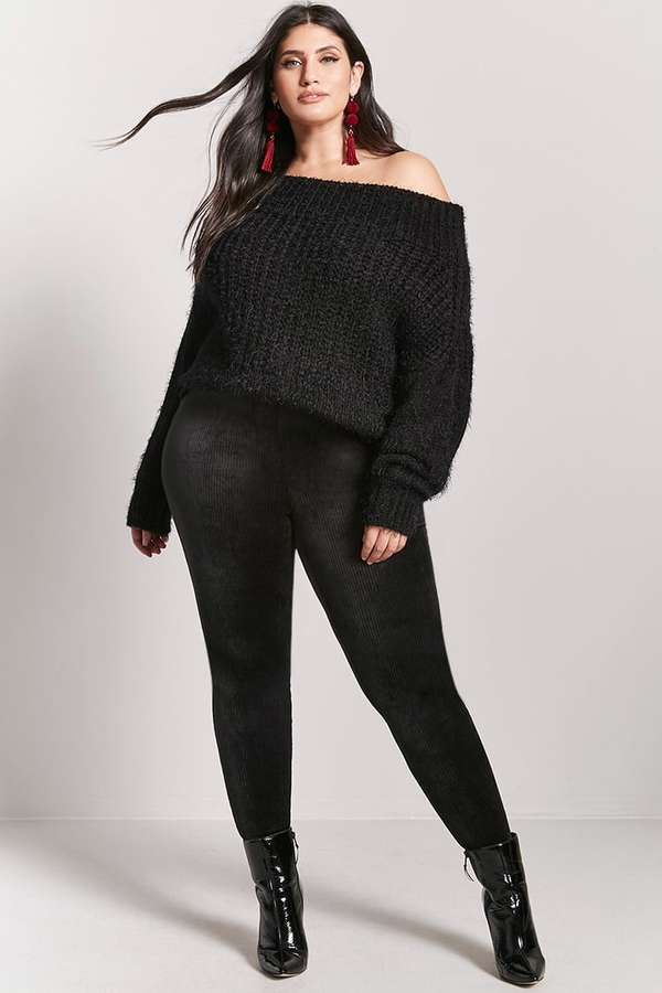 32395d4e45686 Plus Size Velvet Stirrup Leggings - Sale! Up to 75% OFF! Shop at Stylizio  for women's and men's designer handbags, luxury sunglasses, watches,  jewelry, ...