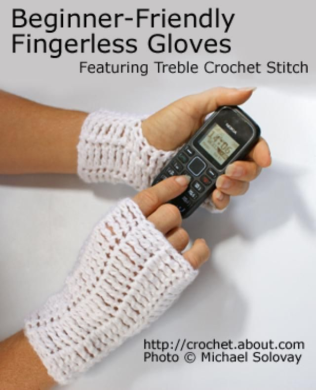 Free Crochet Fingerless Gloves Patterns | Guantes y Vestiditos
