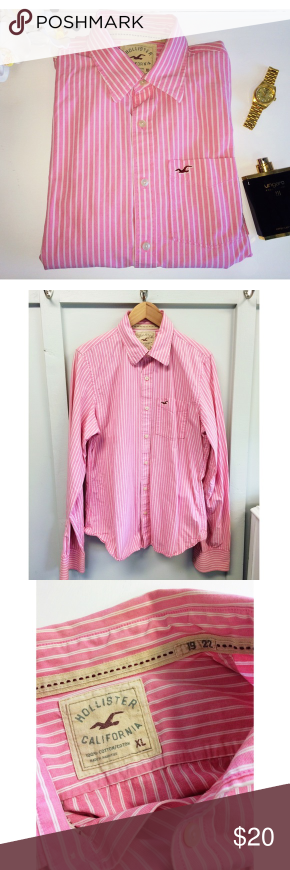 Hollister Guys Button Down Pink And White Striped Hollister Buttondown. Size XL. Also I Follow All Posh Rules & No Trades. An Unless It Says SOLD, It's Still Available! Everything Comes Clean From A Smoke Free Home! Thank You! Don't Forget To Bundle & Happy Poshing! ☕️🌵 Hollister Shirts Casual Button Down Shirts