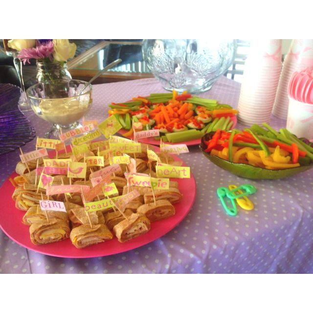 I prepared the appetizers for my friend baby shower ❤