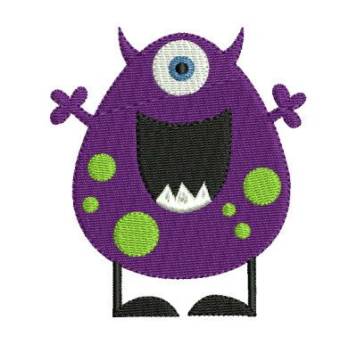 Cute Monster 7 Machine Embroidery Design 2 Sizes. $4.99, via Etsy ...