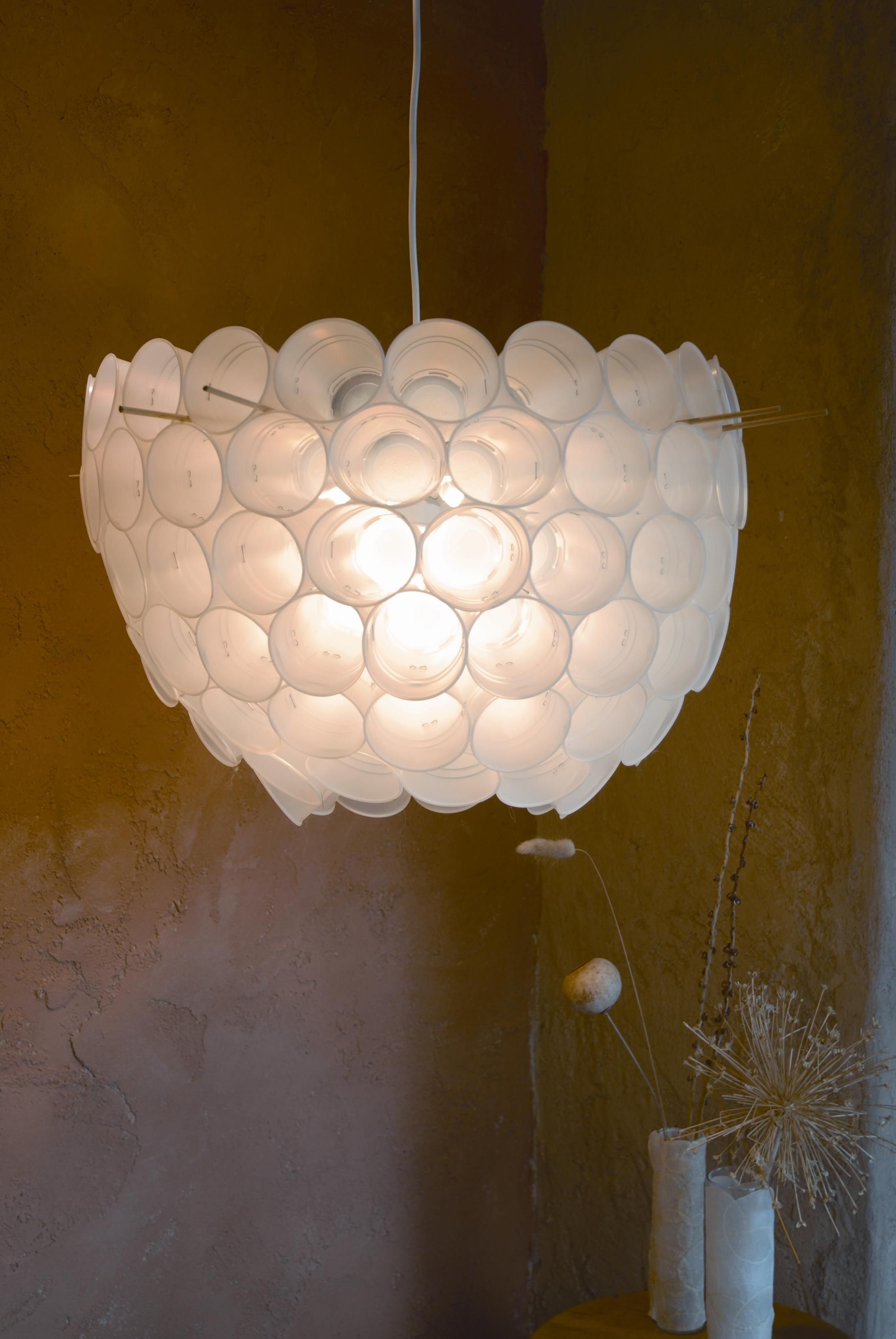 Try this plastic cup chandelier plastic cups cups and crafts try this plastic cup chandelier arubaitofo Choice Image