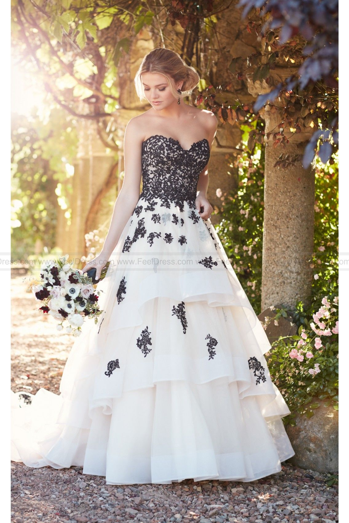Essense of Australia Princess Wedding Dress With Lace And Tulle ...