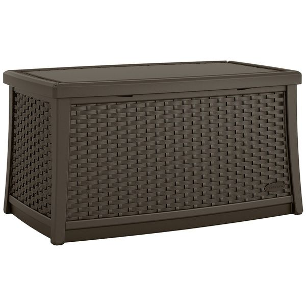Suncast Elements Outdoor Resin Wicker Coffee Table With Storage