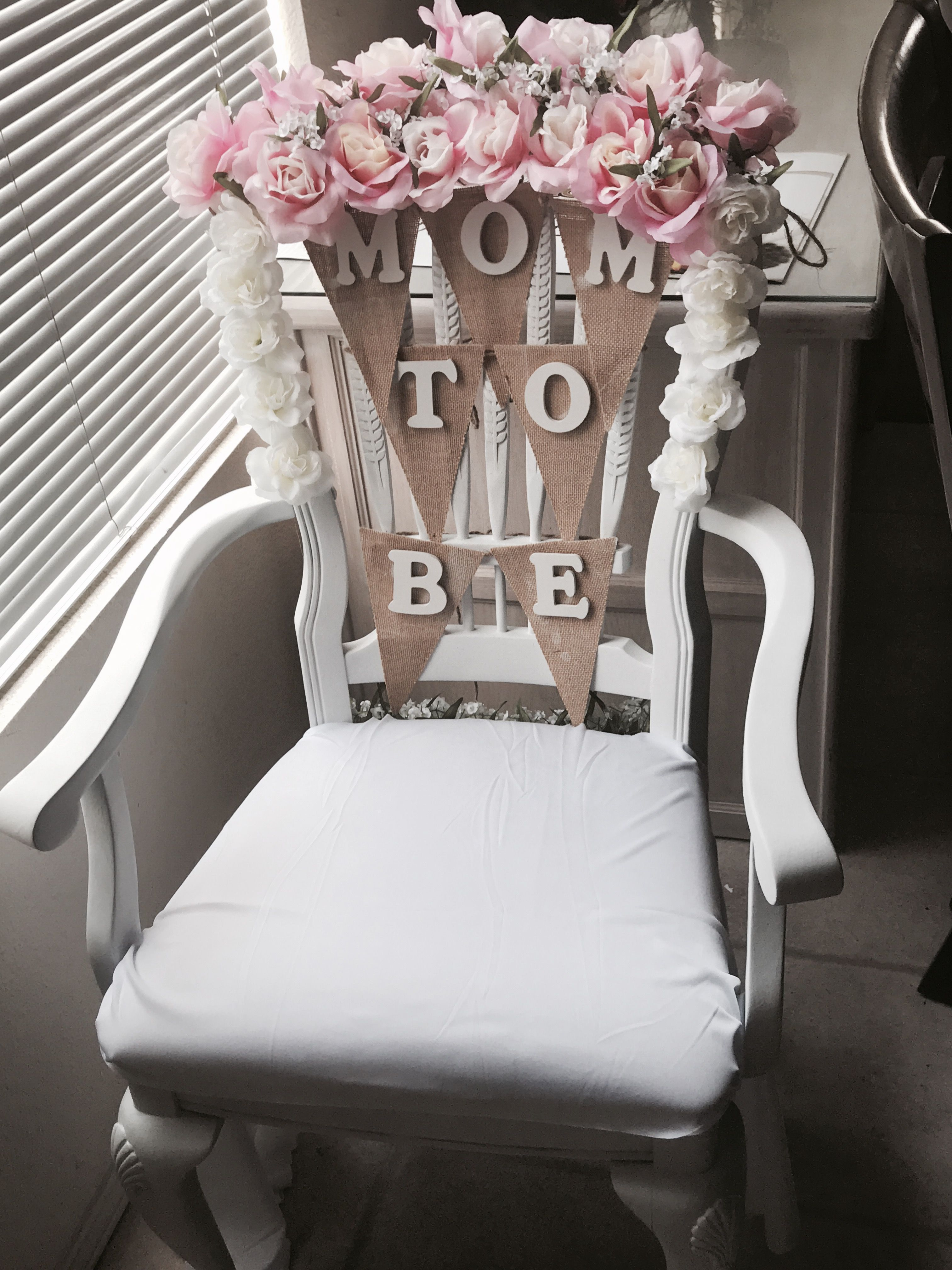 Chair Covers Michaels Modern Kitchen Chairs Baby Shower Idea Flowers From Walmart Wood