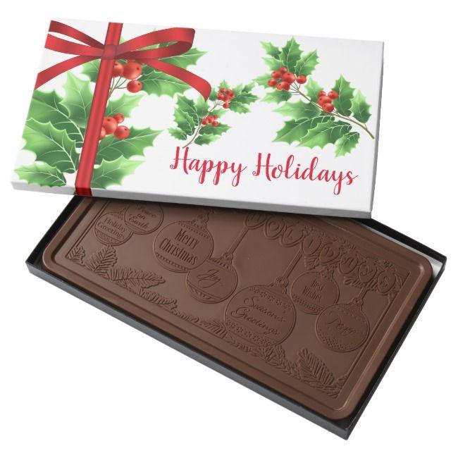 Holiday Milk Chocolate Bar |  Holiday Milk Chocolate Bar