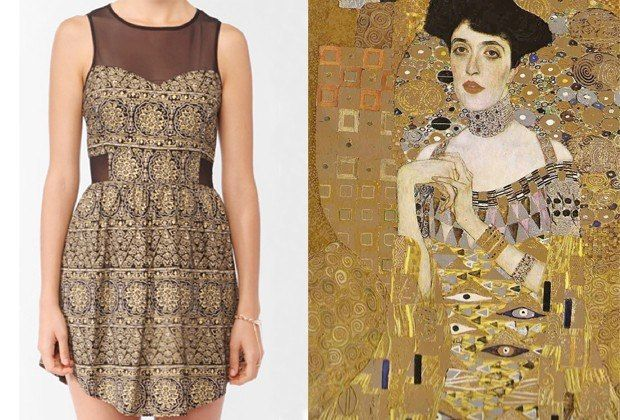 10 Fine Art Inspired Dresses To Turn Any Closet Into A Museum Gustav Klimt