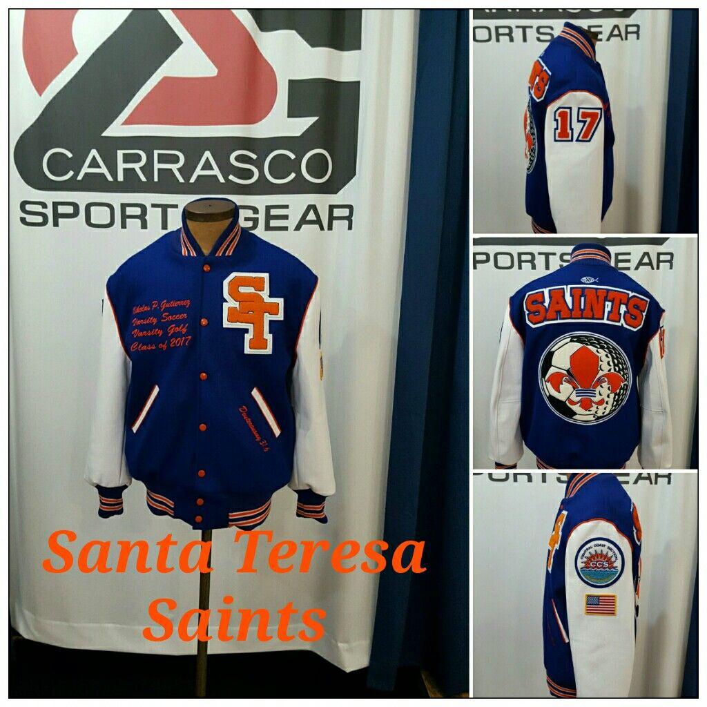 Santa Teresa High School Varsity Jacket Saints Carrascosportsgear