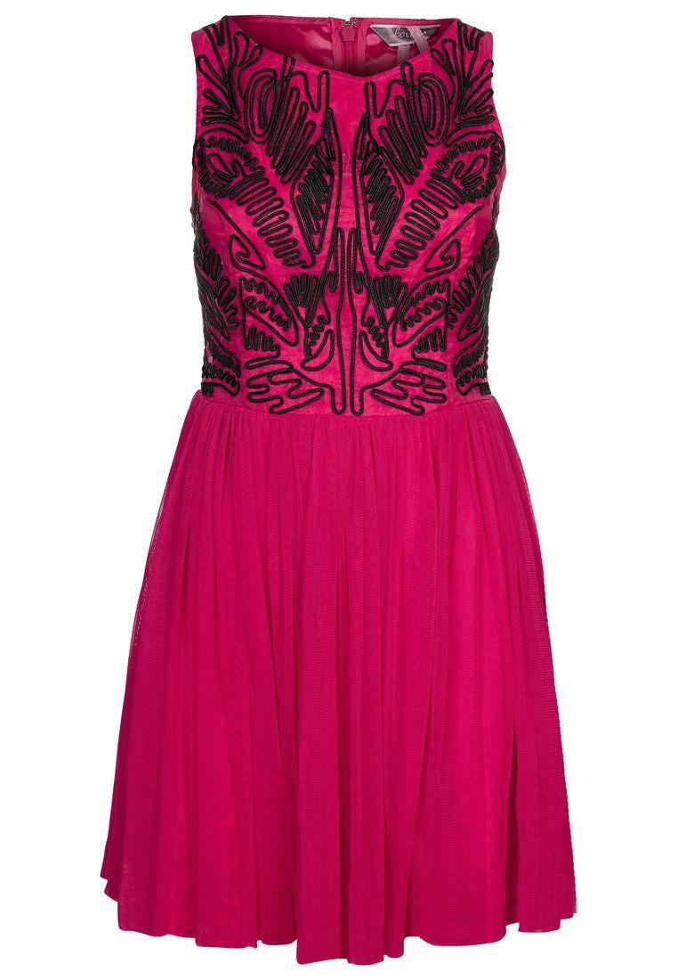 Lipsy - Cocktailkleid / festliches Kleid - raspberry/black ...