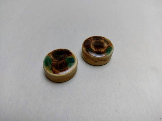 PLUGS GAUGES TUNNELS  1 26 mm Brown Earth  by CagwinManchen