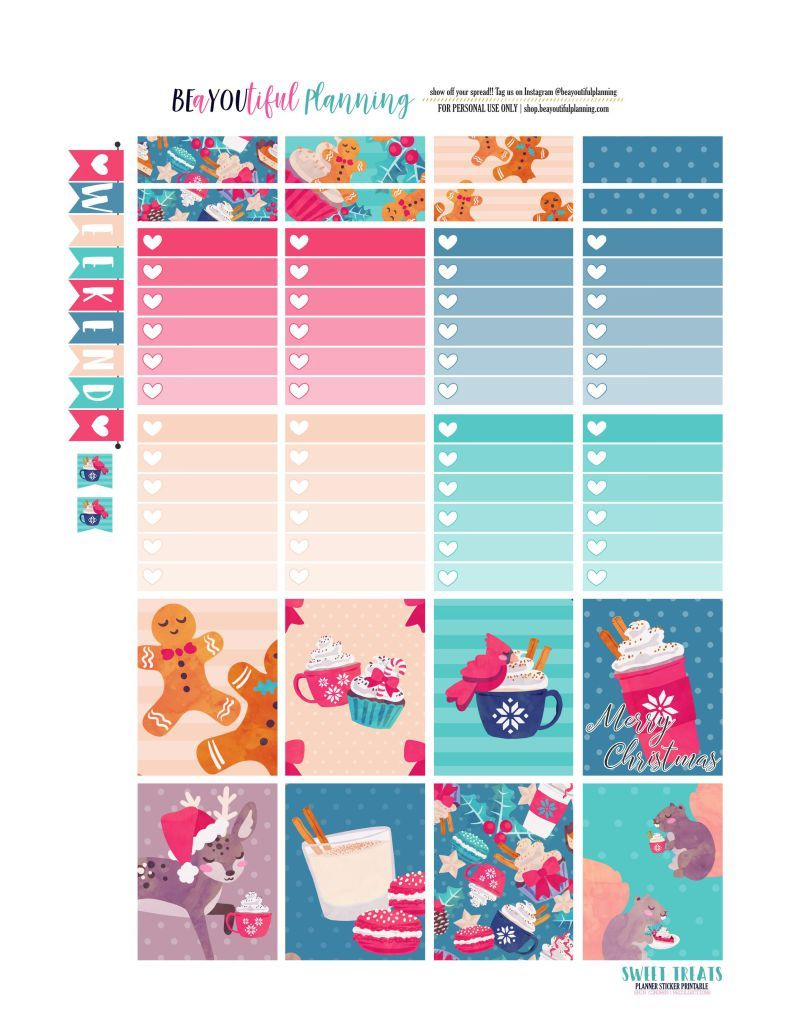 photograph relating to Free Printable Planner Stickers Pdf titled Totally free Printable Merry Xmas Planner Stickers PDF and