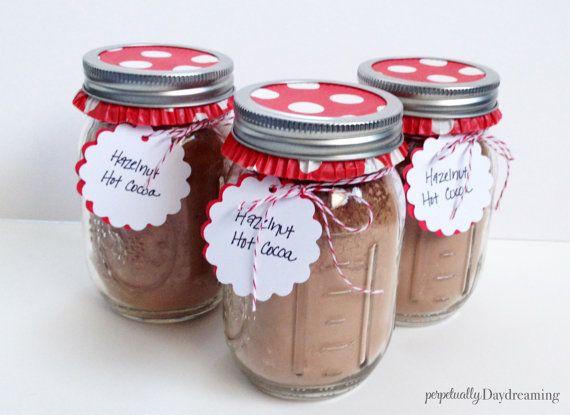Hot Chocolate Mason Jar Gift idea bulk gift idea by