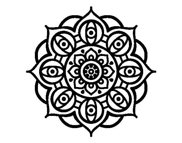 Mandalas Para Colorear De Bts: Dibujo De Mandala Ojos Abiertos Para Colorear