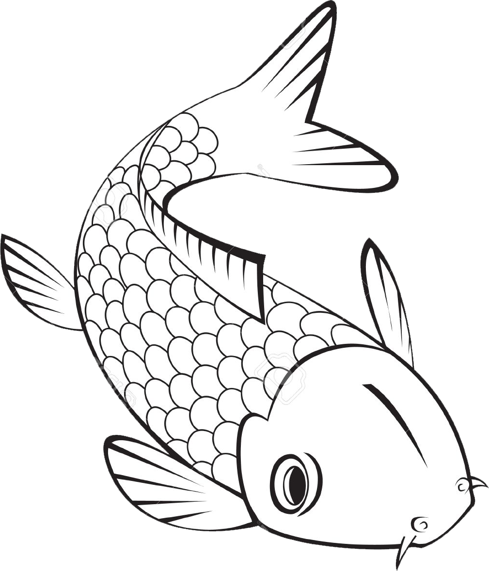 27 Best Photo Of Goldfish Coloring Page Albanysinsanity Com Fish Coloring Page Fish Template Fish Clipart