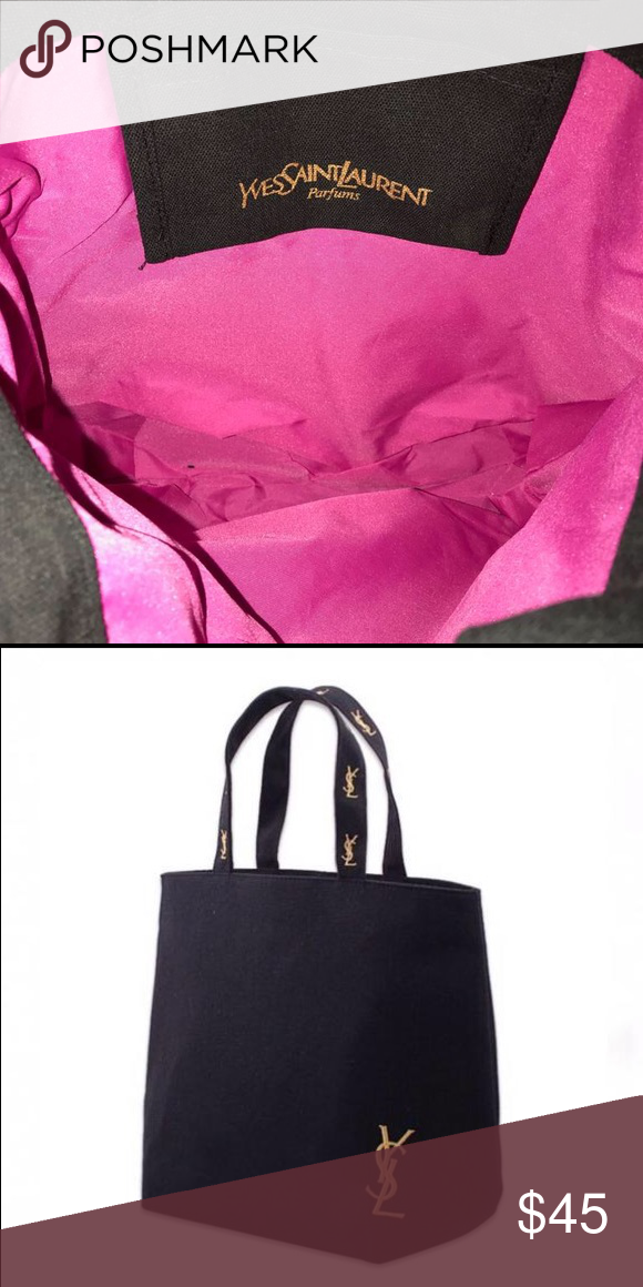 """ac912ff863e2 Authentic YSL canvas tote bag new Authentic new YSL tote from beauty parfum  purchase. Approximately 13"""" x 13"""" x 3.5"""" inches. Cute black canvas tote or  ..."""