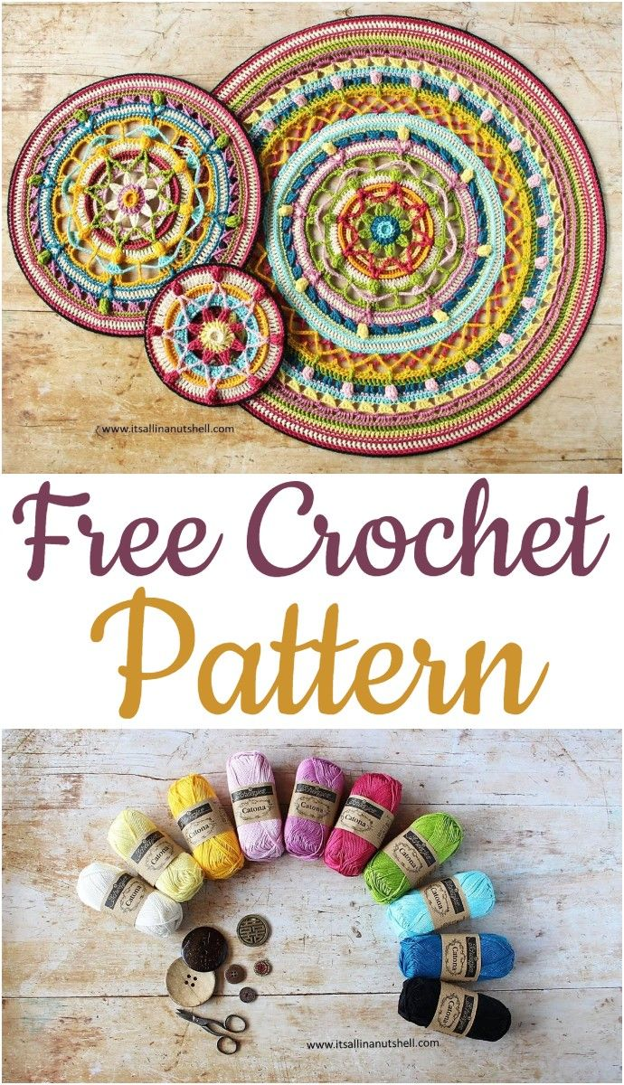 Colorful Crochet Mandala Patterns - #crochetmandalapattern