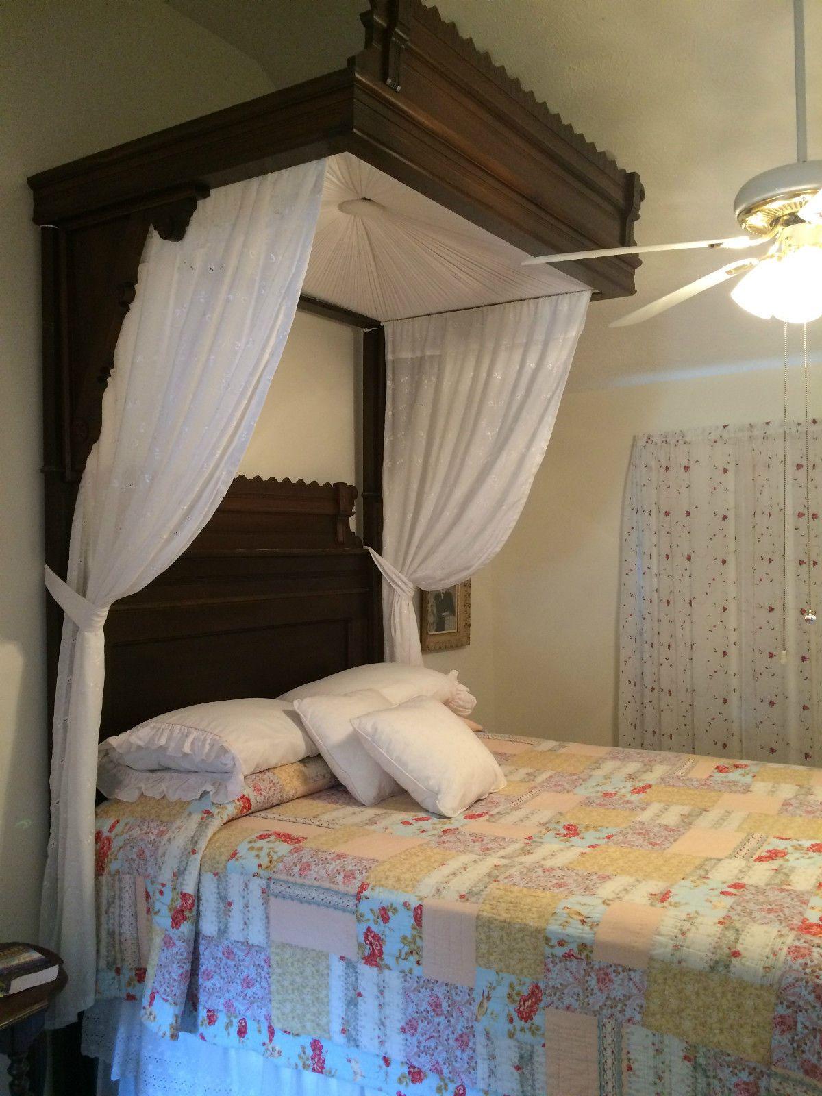 ANTIQUE EASTLAKE HALF TESTER BED APPROX. 11 FOOT TALL in Antiques Furniture Beds & ANTIQUE EASTLAKE HALF TESTER BED APPROX. 11 FOOT TALL in Antiques ...