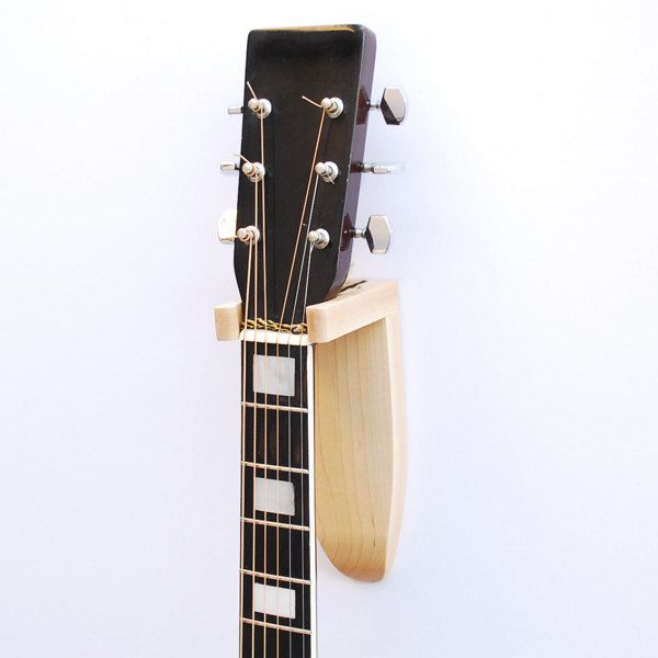 acoustic guitar hanger made of maple fits acoustic on guitar wall hangers id=39121