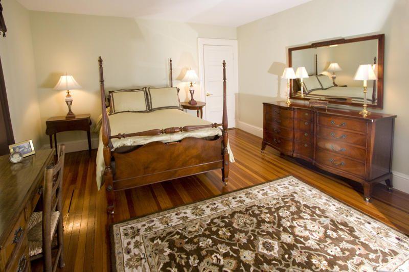 Antique Guest Room in warm color palette