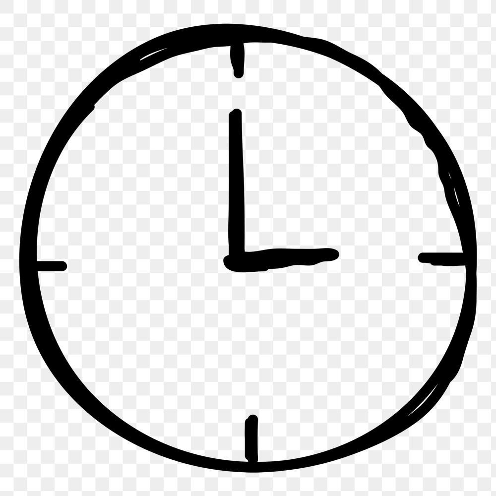Simple Hand Drawn Clock Transparent Png Sticker Free Image By Rawpixel Com Nunny How To Draw Hands Png Free Illustrations