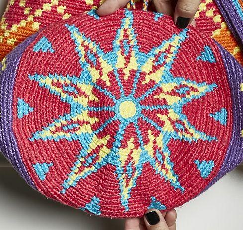 Wayuu bag free pattern | Kissen, Muster und Handarbeiten