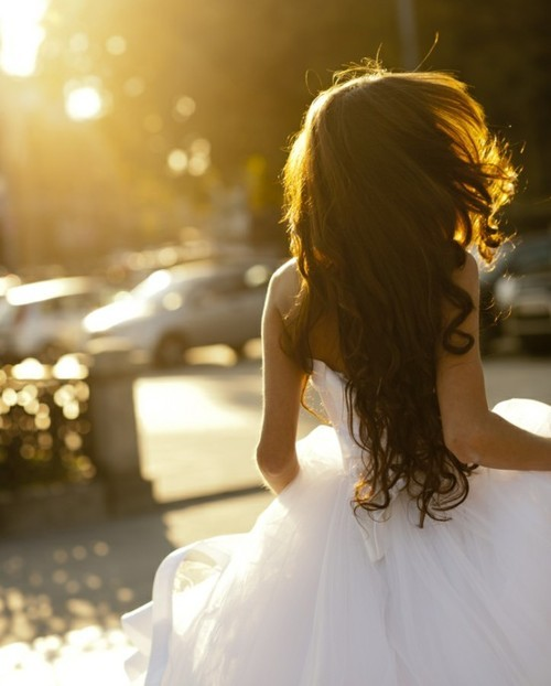 I want my hair to be this long for my wedding day. Just so I could let it out at the end of the night, lol.