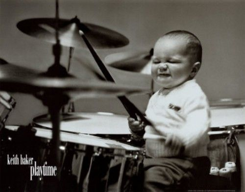 Drums Rock On Little Dude Drums Drummer How To Play Drums