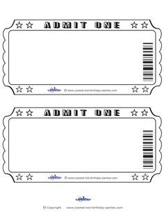 Marvelous Blank Printable Admit One Invitations Coolest Free Printables Regard To Entry Ticket Template