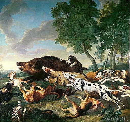 Alexandre-Francois Desportes - Wild Boar Hunt