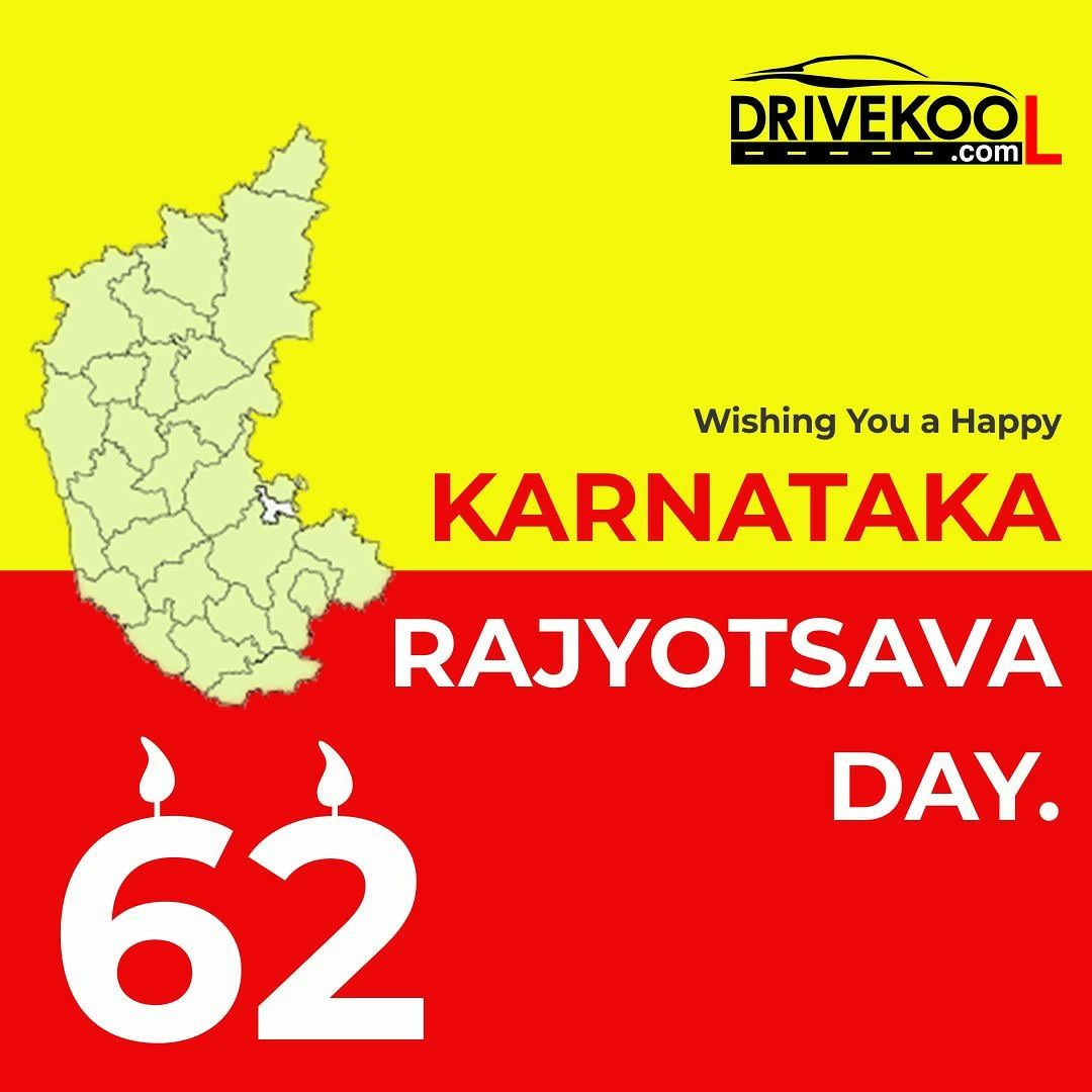 Happy Karnataka Rajyotsava Day. Karnataka Rajyotsava also