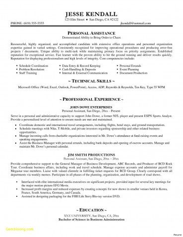 Resume Samples Doc New Executive Resume Templates Word Od Specialist