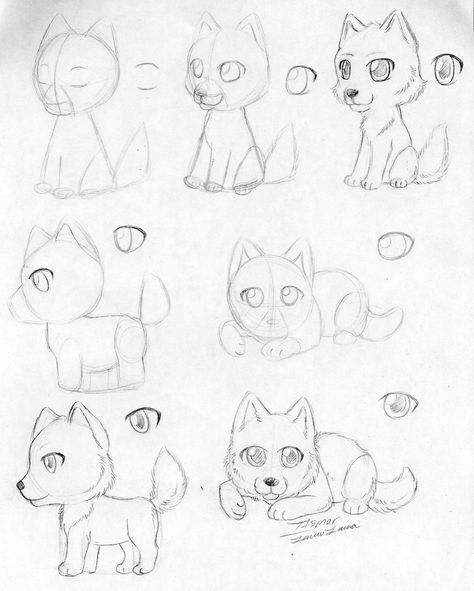 How To Draw A Chibi Wolf By Itsmar Deviantart Com On Deviantart Drawings Cute Wolf Drawings Chibi Drawings