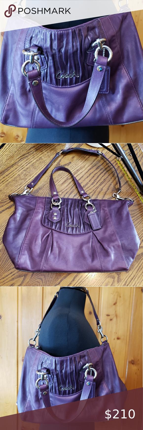 Coach Purple Leather Purse