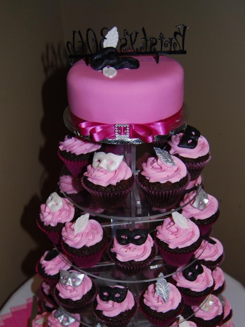 Masquerade Cupcake Tower With Cakepins Qincenera Ideas