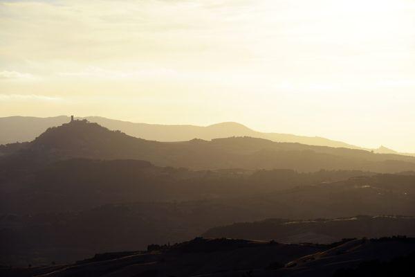 Landscape of Radicofani, Tuscany. Picture by www.nickcornishphotography.com