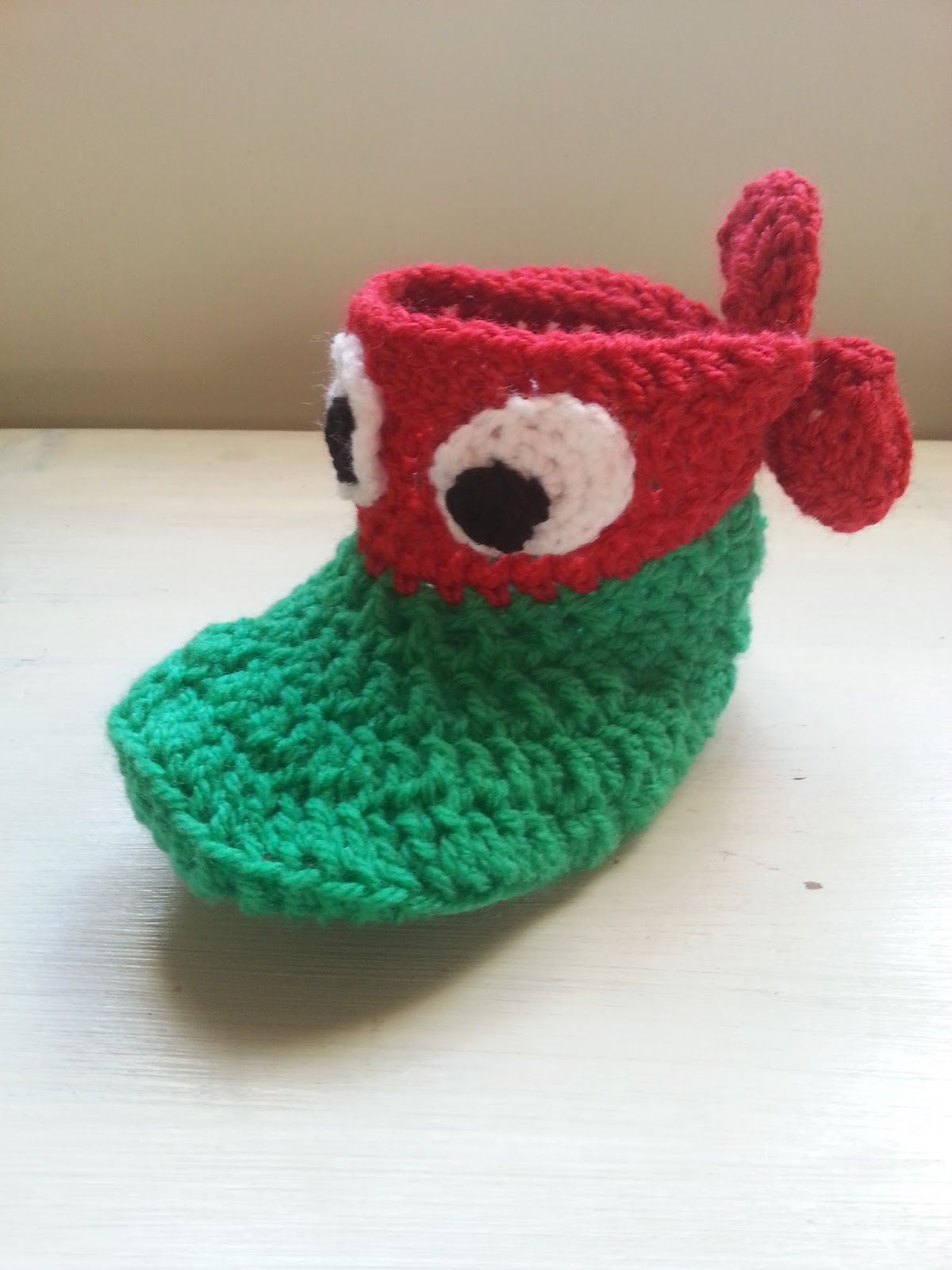 We Love Cozy Ninja Turtle slipper socks free pattern