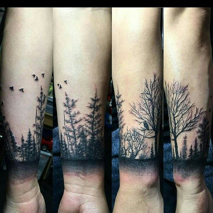 forest forearm tattoo all about tatts forest tattoos. Black Bedroom Furniture Sets. Home Design Ideas